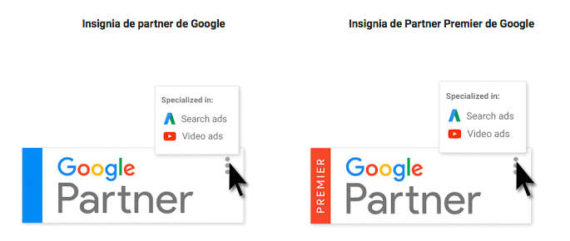 Insignias de Google Partner